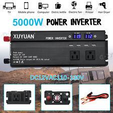 5000W Car LED Power Inverter Modified Sine Wave WATT 12V to AC 110V Converter