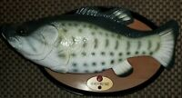 RARE Oval Plaque Big Mouth Billy Bass the Motion Activated Singing Sensation