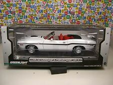 GREENLIGHT 1:18 SCALE DIECAST METAL WHITE 1970 HEMI CHALLENGER R/T CONVERTIBLE