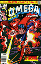 OMEGA THE UNKNOWN # 5 VF/NM 1976 Gerber Mooney MARVEL COMICS *ShipFree w/$35 Ord