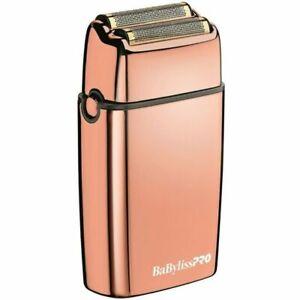 BaByliss PRO FOILFX02 Cordless Metal ROSE GOLD Double Foil Shaver FXFS2RG