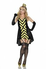 Rubies Women's Playboy Queen Bee Sexy Costume, Black/Yellow, Small