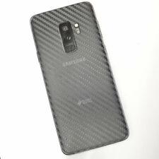 CLEAR Samsung Galaxy S9+ Plus Textured Carbon Fibre Skin Sticker Cover Vinyl TOP