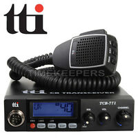 TTI TCB-771 Mobile Multi-Standard DSS 12-24V CB Radio For UK And EU Bands