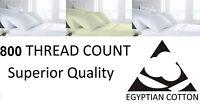 800 Thread Count Luxury Duvet Set Pure100% Egyptian Cotton Bedding White & Cream