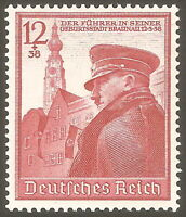 DR Nazi 3rd Reich Rare WW2 WWII Stamp Hitler 50th BirthDay Fuhrer in Braunau '39