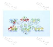 10 pc Fish Tank Decorative Small Glass Ball Dia 14mm Random Colour