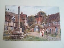 A R QUINTON Postcard 1324 VILLAGE CROSS RIPPLE Nr Tewkesbury Franked 1915 §A2320
