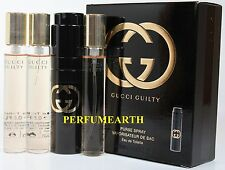 Gucci Guilty By Gucci 0.5oz./15ml Edt Spray With 3 Refills For Women New In Box