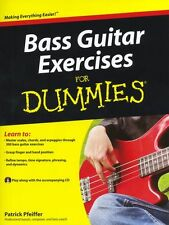 Bass Guitar Exercises For DUMMIES Learn to Play Beginner Easy Music Book & CD