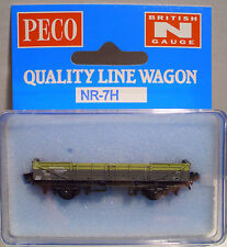 Peco NR-7H 5 Plank Ferry Tube Wagon BR Grey/Yellow Livery 'N' Gauge New in CaseT