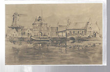 HENIEKEN'S ON THE ZUIDERZEE DUTCH SETTLEMENT ARTWORK POSTCARD EX CIRCA 1950'S !!