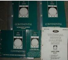 1998 LINCOLN CONTINENTAL Service Shop Workshop Repair Manual Set OEM Factory