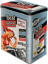 Best Garage Blechdose Vorratsdose Dose Tin Box L 10x14x20 cm 3L 30121