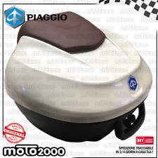 BAULETTO BIANCO 566 CON SCHIENALE 36 LT ORIGINALE PIAGGIO BEVERLY 300 350 RST
