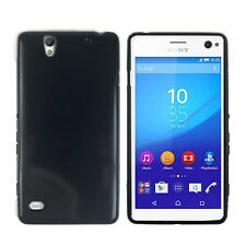 TPU Gel iskin Jelly Case Cover for Sony Xperia C4 Black+Free Screen Guard+iRing