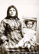 Yokut Woman Joseppa & Son,Tule River Reservation, Calif. - c1900- Historic Photo