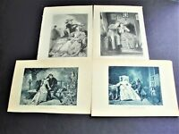 Romeo and Juliet, Augassin and Nicolete +others- Engraving Set Of (4) Prints.