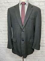 JOSEPH ABBOUD (44L) Men's Gray / Blue 100% Wool Tweed Blazer Sport Coat