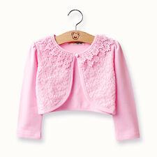 Girls Party Wedding Cardigan Jacket Kids Lace Bolero Shrug Coat Outwear Clothes