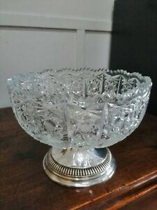 Centerpieces Bowl Fruit Bowls Zaramella Silver 800 Crystal
