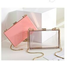 Women Acrylic Metal Frame Shoulder Purse Single Chain Bag Handbag Wear-resisting