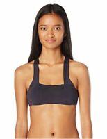 Billabong Women's Sol Searcher Hi Neck Bikini Top,, Black Sands, Size Medium YoL