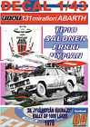 DECAL 1/43 FIAT 131 ABARTH TIMO SALONEN 1000 LAKES R. 1978 2nd (01)