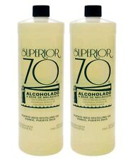 ((2 PACKS OF 25.4 oz))--SUPERIOR 70 BAY RUM AFTERSHAVE-RUBBING ALCOHOL-ALCOLADO.