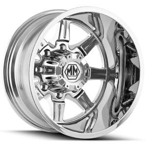 """Mayhem 8101 Monstir Dually Rear 20x8.25 8x6.5"""" Chrome Wheel Rim"""