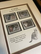 Cats USA Postage Stamp Collection 22 Cents 1987 Framed