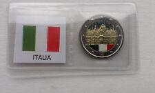 """ITALIA 2 EURO COMMEMMORATIVI """"Basilica di San Marco"""" SMALTATI COLORATI"""