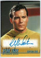 STAR TREK TOS CAPTAINS COLLECTION A270 WILLIAM SHATNER AS CAPTAIN KIRK AUTOGRAPH