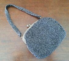 Vintage Beaded Christiana Purse Metallic Gray