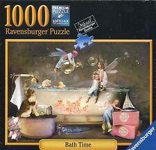 NIB Ravensburger Bath Time 1000 Piece Jigsaw Puzzle Fairies In Bathtub 80502