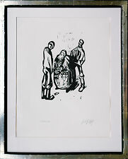 F.K. gotsch 1900-1984: 1923 la uhrenjude Pabst corte de madera firmado nr 112/150