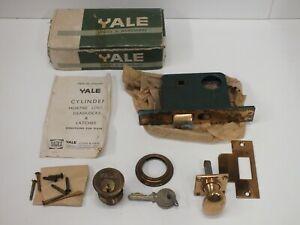 Boxed Vintage Yale 6025 Cylinder Mortice Nightlatch Screw In - Door Lock