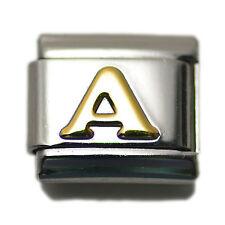 """Italian Charm Bracelet Alphabet Letter Link - LETTER """"A"""""""
