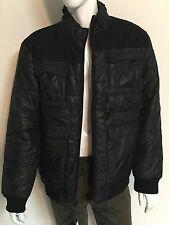 NWT MENS BLACK Marc Ecko Mens ICEBOX Puffer Coat Jacket Size L Retail $129.50