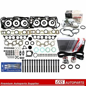 Head Gasket Bolts/Timing Belt/ Water Pump Kit  For 95-04 Toyota T100 3.4L 5VZFE