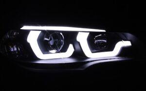 Avant Phare avant Set Noir Pour BMW E70 X5 Feux LED Béquille Lightbar Neuf