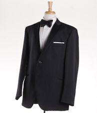 NWT $1375 LUBIAM (L.B.M. 1911) Woven Black Peak Lapel Tuxedo Slim 46 R Suit