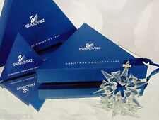 NEW 2007 Swarovski Crystal STAR Snowflake CHRISTMAS ORNAMENT Annual Ltd Ed NIB