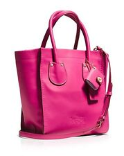 NWT COACH RARE  34514 Cashin Carry 20 Tote in PINK Glove Calf Leather $450