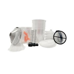 DeVilbiss DeKups Trial Kit Disposable Gravity Feed Paint Gun Cups & Lids 803130