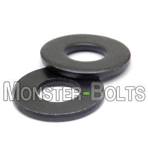 "SAE Flat Washers, Steel w/ Black Oxide - US / Inch #4 #5 #6 #8 #10 1/4"""