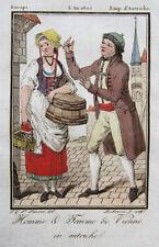 Original-Kupferstiche mit Kostüm-, Mode- & Trachtenmotiven (1800-1899)