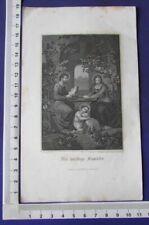 alter Stahlstich DIE HEILIGE FAMILIE gez. F. Wanderer Verlag Carl Mayer Nürnberg