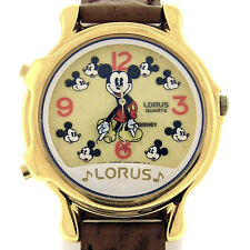 Mickey Mouse Disney Musical, Glow In The Dark Dial Lorus Seiko Unworn Watch $149