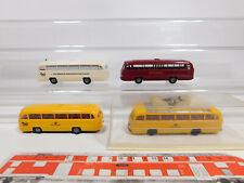 CN317-0,5 #4x Brekina H0 / 1:87 Bus MB O 321: 5239 Post + DB + 100 Años,S. G 1x